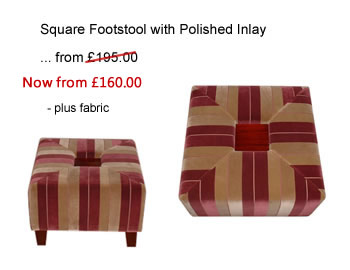 Square footstool made to order in your chosen fabric
